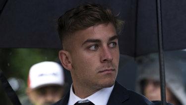 Callan Sinclair is facing trial alongside Jack de Belin.
