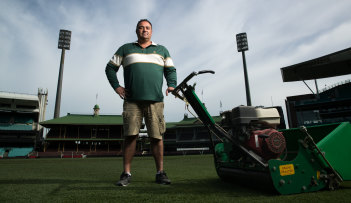 SCG curator Adam Lewis can have the ground ready on a day's notice once the football seasons start again.