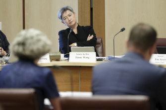 "Labor's Senate Leader Senator Penny Wong accused Senator McKenzie of having ""backdated the brief"" to Sports Australia"
