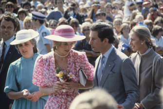 Prince Charles and Princess Diana visit Sydney in 1983.