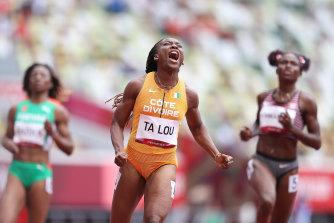 Ivory Coast's Marie-Josee Ta Lou was fastest in the heats.
