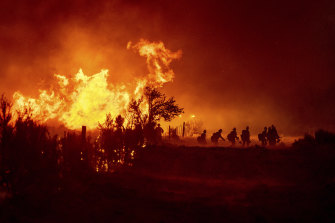 The fires across the western US states have followed a severe heatwave.