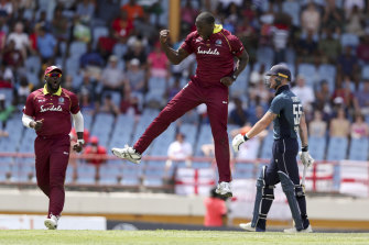 Bumper clash: Carlos Brathwaite says the West Indies bowlers will have to be switched on against Australia.