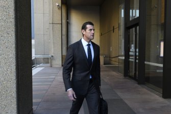 Ben Roberts-Smith arriving at the Federal Court.