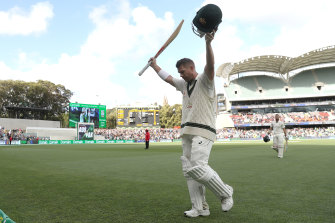 David Warner after his 335 not out against Pakistan.