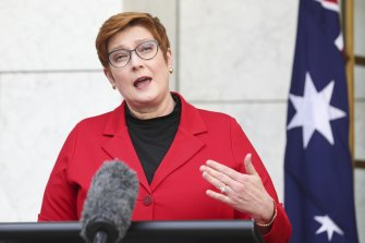 Foreign Minister Marise Payne says Australia cannot assert its interests on the international stage without taking some risk.