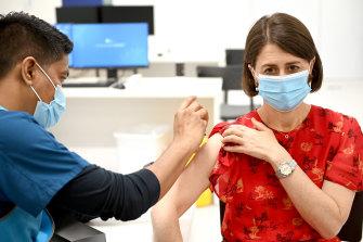 NSW Premier Gladys Berejiklian received her second dose of AstraZeneca last week.