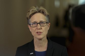 ACTU secretary Sally McManus said high-priority workers were struggling to get a vaccine shot.