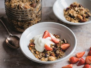 Fruit and nut granola from The Fast 800 Easy, which offers recipes developed by Mosley's GP wife Dr Clare Bailey.