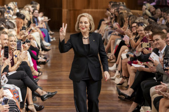 Ita Buttrose walks the Priceline beauty runway at VAMFF.