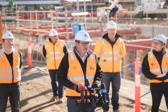 The Andrews government is pressing ahead with its level crossing removal project during the pandemic.