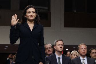 Sheryl Sandberg, chief operating officer of Facebook, testifies on Capitol Hill in September.