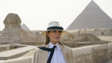 Melania Trump on her African tour.