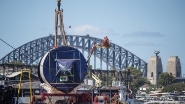 Kathleen has been designed especially for the ground and rock conditions found at the bottom of Sydney Harbour.