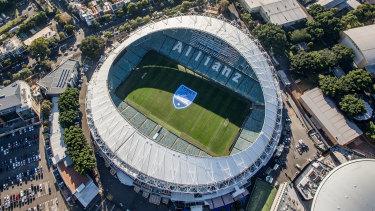 Allianz Stadium at  Moore Park.