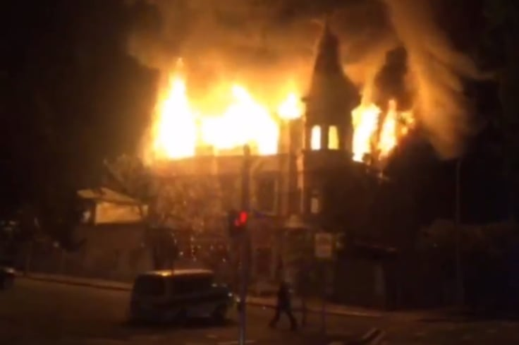 Fire ripped through the building in the early hours of last Sunday morning.