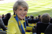 2018 AFL Grand Final. Collingwood vs West Coast. Julie Bishop at the AFL 2018 Grand Final. Football fans . 29th September 2018. Photo by Jason South