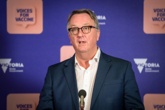 Health Minister Martin Foley speaks earlier this week.