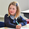 Sophie Butcher will start prep on Thursday at St Margaret's Catholic Primary School.