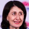 Premier Gladys Berejiklian addresses the daily COVID-19 briefing on Monday.
