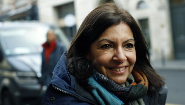 Paris mayor Anne Hidalgo is up for re-election this weekend.
