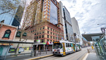 Strata levels 7 and 8 are for sale at 474 Flinders Street.