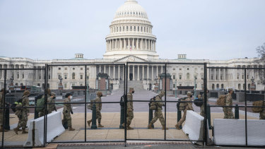 A two metre fence has been erected around the US Capitol ahead of Joe Biden's inauguration.