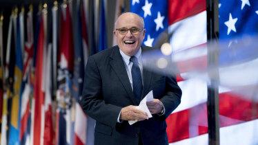 US President Donald Trump's new attorney, Rudy Giuliani.