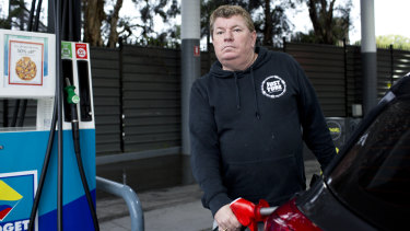 Alan Clarke  is concerned about even a small jump in petrol prices.