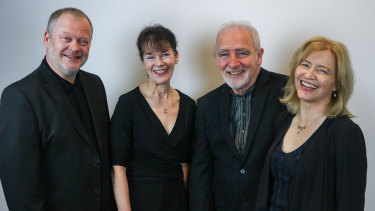 The Brodsky Quartet, L-R:  Ian Belton, Gina McCormack, Paul Cassidy and Jacqueline Thomas.