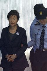 Former South Korean president Park Geun-hye in 2017.