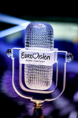 The 2019 Eurovision trophy.