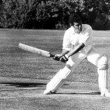 Handy with a bat ... Mr Hughes, shows his style in a Parliamentarians vs Press Gallery match later in the year.