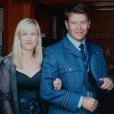 Kellie Merritt and Flight Lieutenant Paul Pardoel.