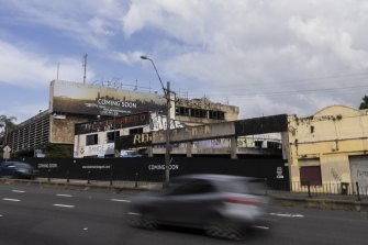 Not coming soon: the abandoned site of the old Balmain Leagues Club in Rozelle.