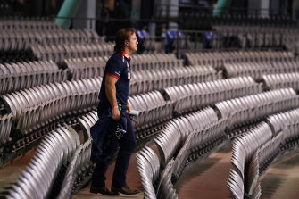 Bulldogs coach Luke Beveridge may need to change his messaging to his players.