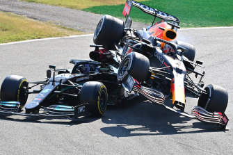 Max Verstappen and Lewis Hamilton crashed at Monza.
