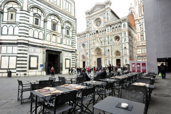 Officials hope the technology will help bring visitors back to the historic Duomo in Florence, which has been scarce for months due to lockdown measures.