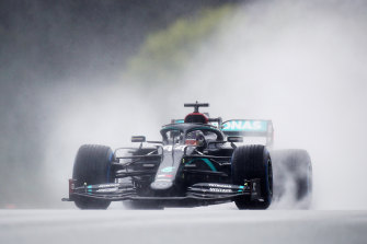 Lewis Hamilton qualified on pole in masterful style in the wet.
