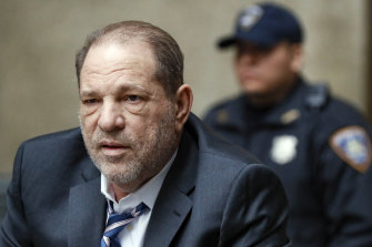 Harvey Weinstein departs a Manhattan courthouse during his rape trial in New York in February, 2020. He is appealing his conviction and 23-year prison sentence.