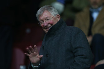 Former Manchester United manager Sir Alex Ferguson at a United match in 2019.