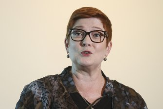 Foreign Minister Marise Payne says Australia won't trade away its values.