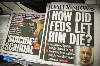 Front pages and headlines of New York newspapers on Sunday, August 11.