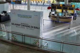 The international airport in Denpasar remains empty despite Bali's official re-opening.