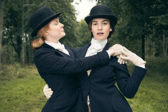 Beecham, left, plays Fanny Logan and James plays Linda Radlett in the Amazon series.