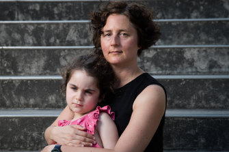 Chloe Groom and her daughter were among the passengers stuck on the tram.