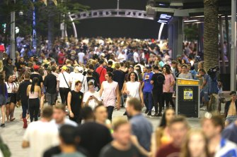 Last year's schoolies event drew more than 18,000 young people to Surfers Paradise.