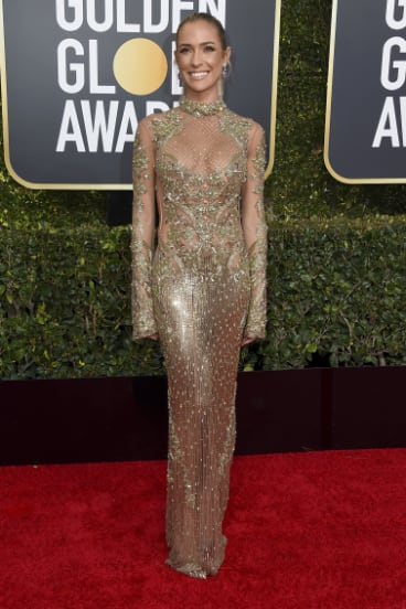 Kristin Cavallari arrives at the 76th annual Golden Globe Awards.
