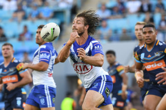 Hair we go ... Kieran Foran is back on deck for the Bulldogs after a hamstring and calf problem.
