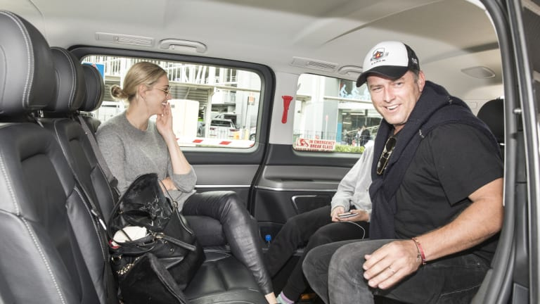 Former host of the Today show Karl Stefanovic leaves Sydney Airport with his wife Jasmine Yarbrough after returning from their lavish wedding in Mexico and honeymoon.